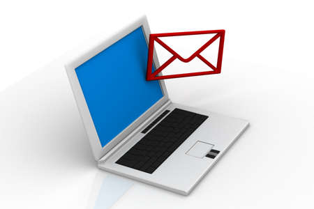 send email envelope in a laptop Stock Photo - 14912361