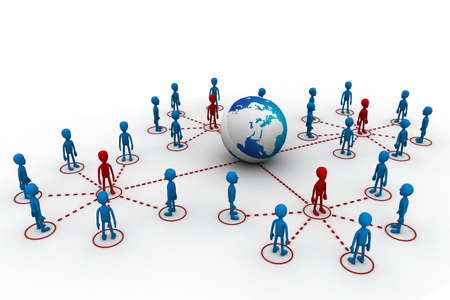 increase sales: Global network  Stock Photo