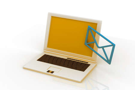 send email envelope in a laptop  photo