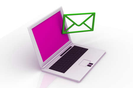 send email envelope in a laptop Stock Photo - 14912544