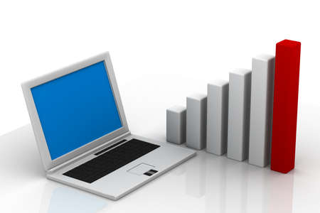 show the concept of modern tools for financial and market analysis  photo