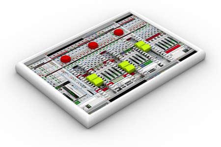 sound mixer: sound mixer for audio recording  Stock Photo