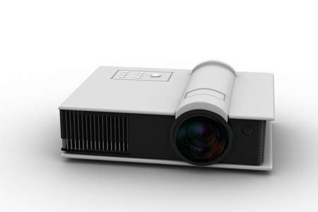 present presentation: 3d render of Full HD projector