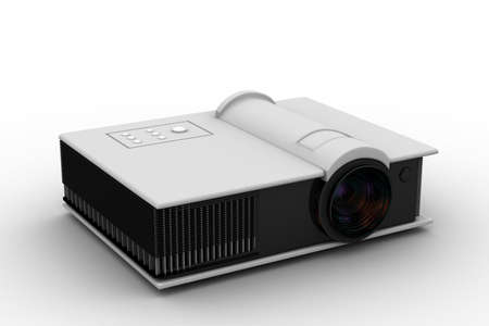 3d render of Full HD projector photo