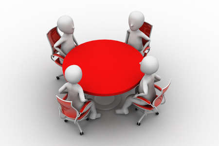 3d person at a conference table Stock Photo - 14915623