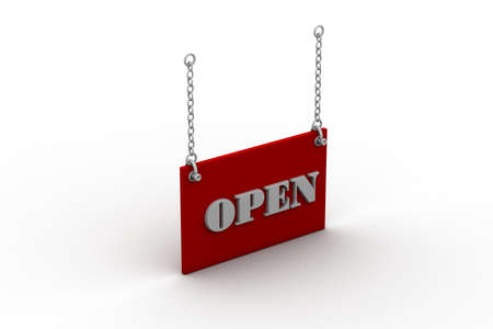 Open Sign Hanging photo