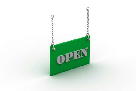 we: Open Sign Hanging