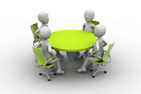 3d person at a conference table Stock Photo - 14950354