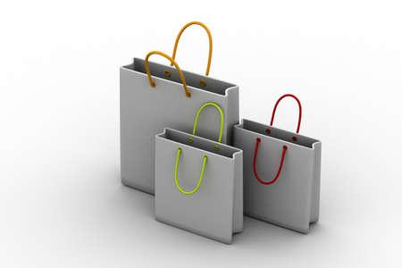 shopping cart icon: Shopping cart 3d render illustration Stock Photo
