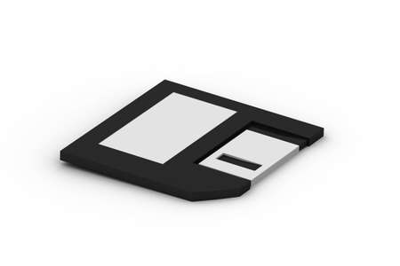 Floppy Disk on White Background photo