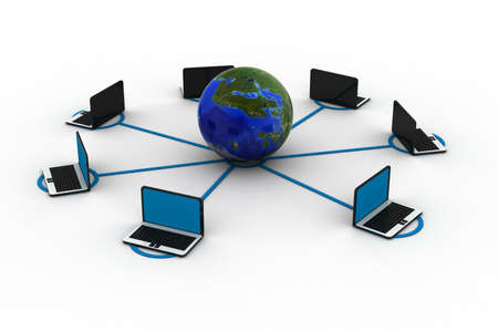 Global computer network  photo