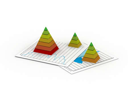 Graph and Layered cone  photo