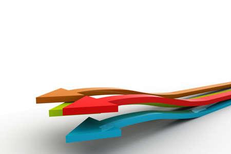 fluctuation: 3D raising business graphs Stock Photo
