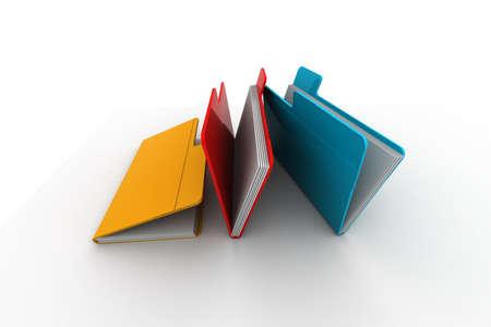 secretarial: folder with documents