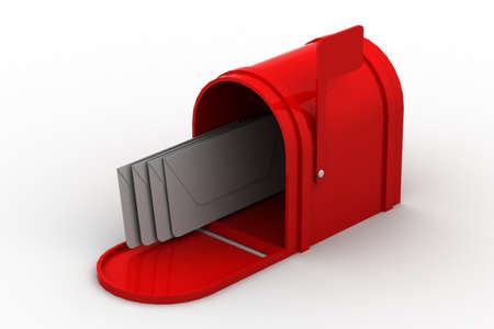 mail delivery: mail box with letters  Stock Photo