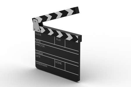clap board: 3d illustration of cinema clapboard
