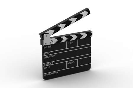 action movie: 3d illustration of cinema clapboard