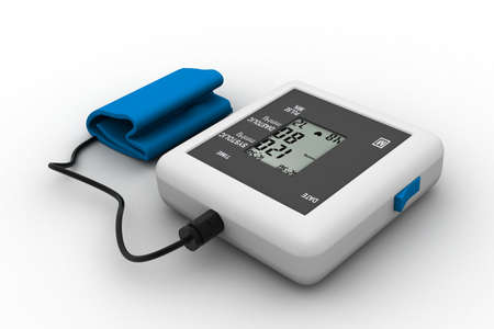 blood pressure gauge: Digital blood pressure gauge  Stock Photo