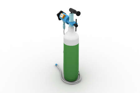 Small portable oxygen cylinder photo