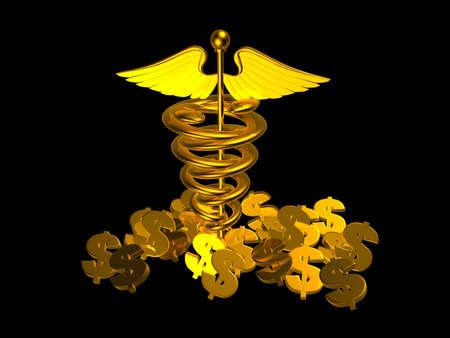 Medical logo and dollar sign Stock Photo - 15097570