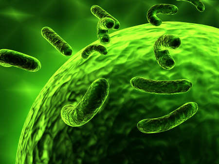 bacteria attacking cell Stock Photo - 15097600