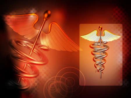sceptre: Medical logo Stock Photo