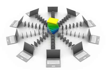transferring: Data transferring concept  Stock Photo