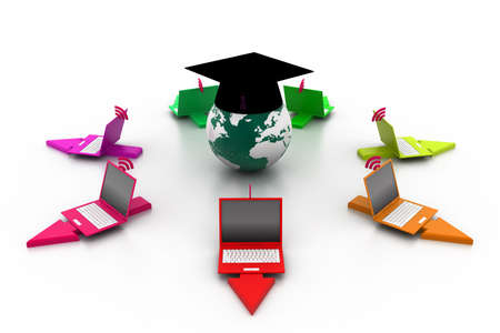 elearning: 3d e-learning concept