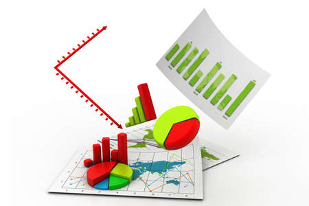 people in Business graph chart Stock Photo - 15348702