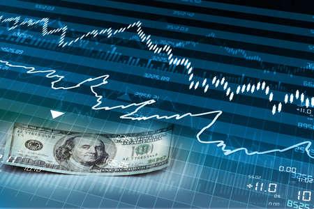 economic growth: stock market chart  Stock Photo