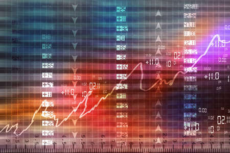 stock ticker board: Display of Stock market quotes  Stock Photo