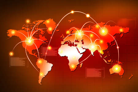 Concept of global connections  Stock Photo