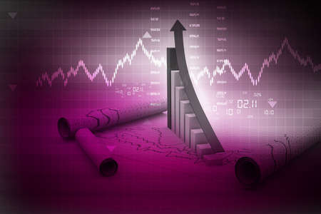 Business graph Stock Photo - 15403391