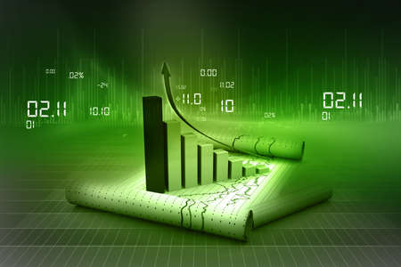 Business graph Stock Photo - 15403394