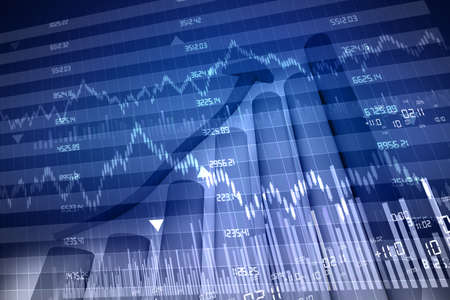 stock exchange graph Stock Photo - 15403397