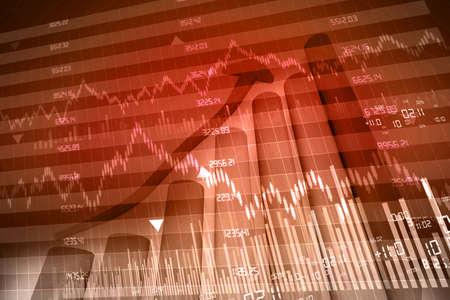 stock exchange graph Stock Photo - 15403380