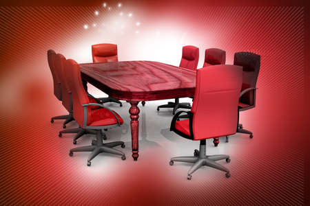 meeting room and conference table  photo