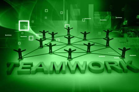 Teamwork concept on abstract background  photo