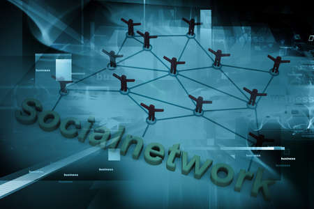 Social Network concept  on abstract background   photo