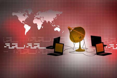 antena parabolica: Red informática mundial