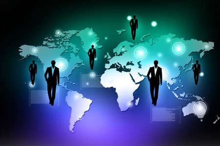 co operation: Global business network concept  Stock Photo