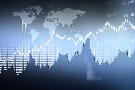 investment analysis: Stock Market Chart Stock Photo