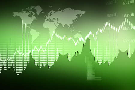 Stock Market Chart Stock Photo - 15403023