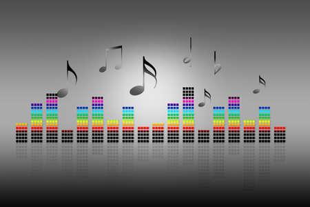 color spectrum: music background