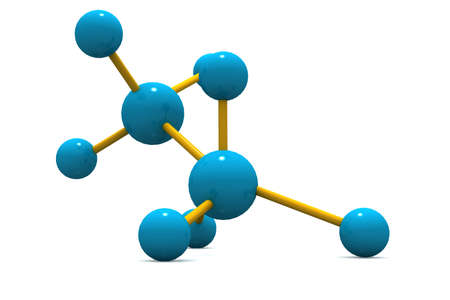 3d image of molecular structure  photo
