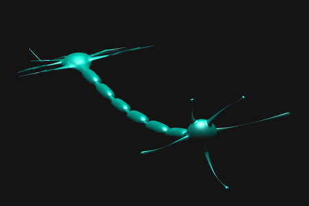 neuron cell in black background Stock Photo - 15712004