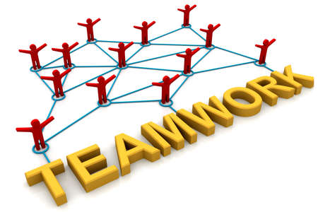 depend: Teamwork words   Stock Photo