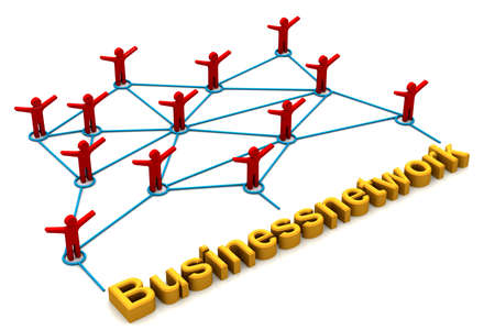 organised: Business Network concept