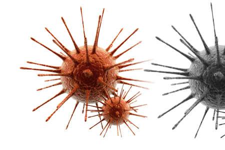 aids cell: virus  Stock Photo