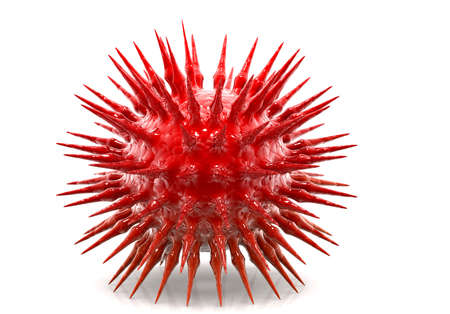 virus cell: h1n1 virus  Stock Photo